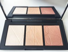 NARS Banc De Sable Highlighter Palette - review, swatches and comparisons to some other favorite brands #NARS #makeup #beauty #highlighter
