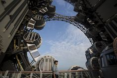 Steampunk Tendencies   Golden Reel, World's First Figure-8 Ferris Wheel...