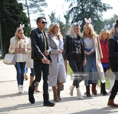 The TOWIE Cast are seen filming an Easter egg hunt on March 22, 2016 in Enfield…
