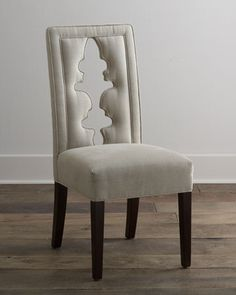 """Bailey"" Linen Chair by NM EXCLUSIVE at Neiman Marcus."