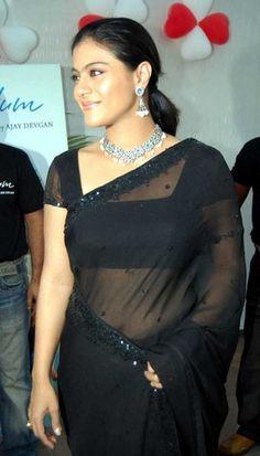 Actress Kajol http://www.yoyoshare.com/actress/kajol/kajol-in-black-saree-blouse/