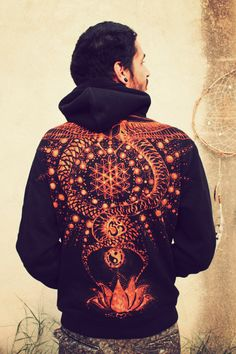 hoody, menswear, printed, sacred geometry, symbols  https://www.facebook.com/siamic.crafts  https://www.facebook.com/siamic.crafts