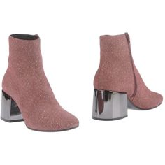 Mm6 By Maison Margiela Ankle Boots ($323) ❤ liked on Polyvore featuring shoes, boots, ankle booties, garnet, leather ankle boots, round toe ankle boots, leather ankle bootie, leather ankle booties and ankle boots