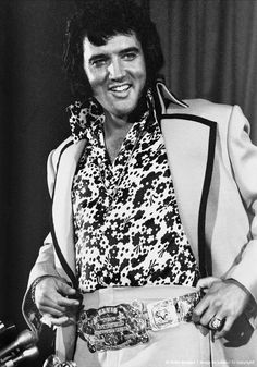 Elvis Presley during is press conference at the New York Hil
