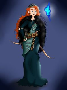 "Princess to Queen by Minxy-Moo.deviantart.com on @deviantART - Second in a series showing Disney princesses as queens: Merida from ""Brave""."