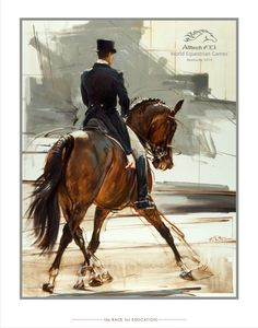 A beautiful dressage print from the limited-edition AllTech FEI World Equestrian Games 2010. If only I could get my hands on this!