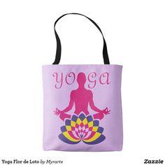 Yoga Flor de Loto. Producto disponible en tienda Zazzle. Accesorios, moda. Product available in Zazzle store. Fashion Accessories. Regalos, Gifts. #bolso #bag #yoga
