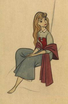 Briar Rose concept art for Sleeping Beauty by Marc Davis