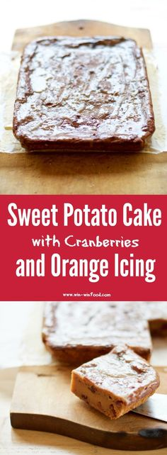 Sweet Potato Cake with Cranberries and Orange Glaze | WIN-WINFOOD.com #healthy #vegan dessert perfect for the holidays