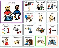 Game Play communication board- taken from http://www.mentorschools.net/FamilyResources1.aspx