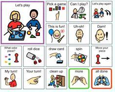 Game Play communication board- taken from http://www.mentorschools.net/FamilyResources1.aspx