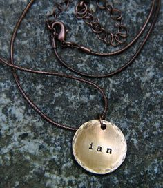 Custom Hand Stamped Name or Initial Necklace by The Copper Poppy | Hatch.co
