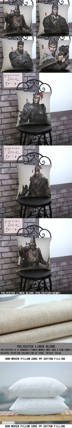 luxury home decoration outdoor Car sofa seat cushion cushions pillow game cavalry Three countries Wall Sticker pattern printing $6.55