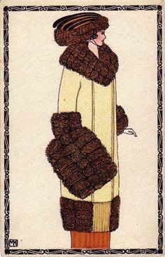 313. Mela Koehler - Wiener Werkstatte postcard