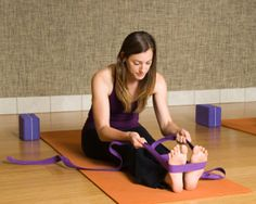 Yoga! Props: Blocks, straps, cushions and other aides can be invaluable tools for making yoga more accessible and can provide an enhanced experience.