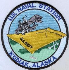 US NAVY PATCH - U.S. NAVAL STATION KODIAK, ALASKA