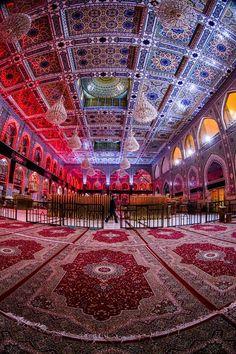 Inside the shrine of Imam Hussein in Karbala