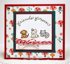 DeNami Animal Friends card by @Pattie Goldman