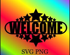 Welcome SVG PNG Digital Download
