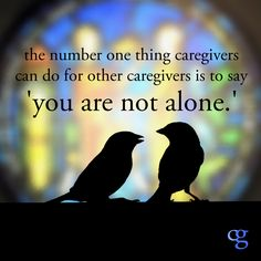The number one thing #caregivers can do for other caregivers is to say 'you are not alone.' Quote by Alexandra Drane
