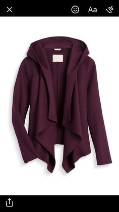 Stylist:LOVE this!! So cute! Love the drape and the hood and the color! Love everything about it!