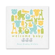 Duck Theme Baby Shower Napkin that is custom made with name and date! Baby Shower Napkins, Personalized Napkins, Event Marketing, Wedding Napkins, Welcome Baby, Baby Shower Themes, Coasters, Invitations, Party Ideas