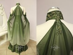 Elven Bridal Gown Back View by Lillyxandra on DeviantArt