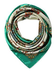 "corciova 35"" Women's Neckerchief Satin Smooth Scarf for Hair Wrapping at Night Emerald Green $9.99 Free Shipping"