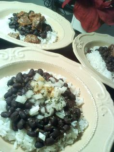 Cuban black beans (Cuban dish) latin food