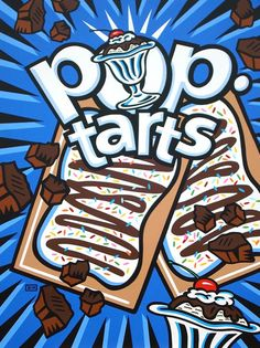 """Burton Morris: """"Pop-Tart Label - sundae"""" 2009."""