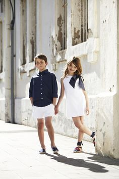 pepitobychus avance primavera-verano 2014 - Vestido lazada conjunto niño-niña #moda #infantil #niños #niñas