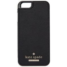 Kate Spade New York Leather Folio and iPhone 6 Case ($65) ❤ liked on Polyvore featuring accessories, tech accessories, phone, phone cases, iphone cases, tech, black, black iphone case, iphone cover case and apple iphone cases