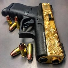Loading that magazine is a pain! Excellent loader available for your handgun Get. Custom Glock, Custom Guns, Weapons Guns, Guns And Ammo, Zombie Weapons, Fire Powers, Fantasy Weapons, Cool Guns, Revolver