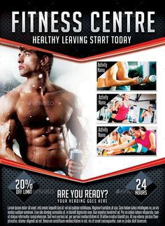 Fitness Center Flyer Template  Brochure Design