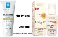 A dupe for La Roche Posay's Anthelios SX SPF 15 Sunscreen. Compare and rate on SkincareDupes.com!