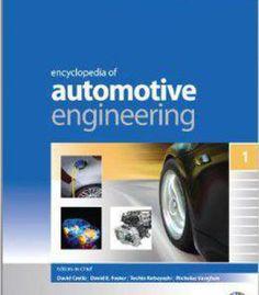 Encyclopedia Of Automotive Engineering PDF #Pdf