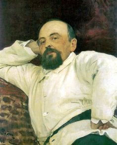 Portrait of Savva Mamontov, 1880 by Ilya Repin. Realism. portrait. Bakhrushin Theater Museum, Moscow, Russia