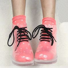 Transparent rain boots. #shoes #transparent