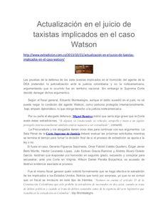 Actualización en el juicio de  taxistas implicados en el caso  Watson