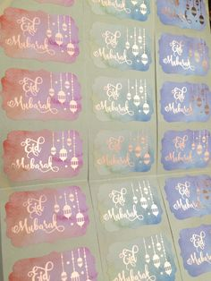 Shine Bright Stickers offers quality foiled stickers for Ramadan, Eid, Hajj, and Umrah with both timeless & modern designs. Eid Favours, Eid Stickers, Eid Mubarak, Rose Gold, Shapes, Decoration, Vintage, Design, Decor