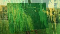 """Name: Green Day   Features: - Acryl colors on canvas - Signed by the artist Measurements: - 120 x 80 cm / 47"""" W x 31"""" H Inch"""