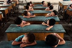 nap time in China. Beautiful children <3.