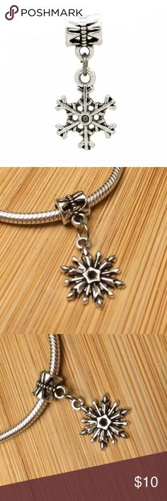 New Snowflake ❄️ Charm Bead 925 Silver New 925 Sterling silver Spacer charm bead made specifically for Pandora bracelets. Charm itself is not Pandora, it just fits Pandora and still made in high quality material. It would make a great addition to your Pandora bracelet. Pandora Jewelry Bracelets