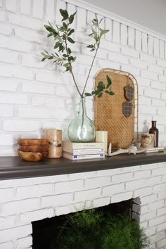 The 24 Best Mantel Ideas - How to Decorate a Fireplace Mantel | Apartment Therapy Fall Mantel Decorations, Fall Decor, Mantel Ideas, Table Decorations, Decor Ideas, Decorating Ideas, Seasonal Decor, Holiday Decor, Hygge
