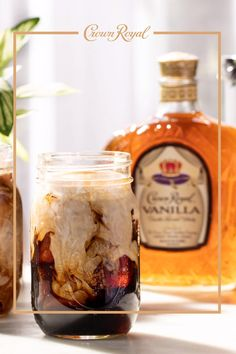 Raise your hand if you're ready for iced coffee season. Now let's get it started with Crown Vanilla. Crown Vanilla Iced Coffee: 1.5 oz Cold Brew Coffee 1 oz Crown Royal Vanilla 1 oz Heavy Cream .5 oz Maple Syrup Ice Ground Cinnamon Directions: Add cold brew coffee, Crown Royal Vanilla, heavy cream, maple syrup, and ice to a cocktail shaker. Shake about 10 seconds. Strain into a drinking glass and top with cinnamon. Fancy Drinks, Summer Drinks, Cocktail Recipes, Cocktails, Vanilla Iced Coffee, Liquor Drinks, Beverages, Alcohol Drink Recipes, Coffee Recipes