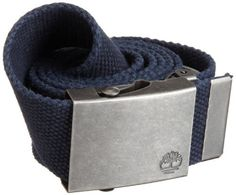 Timberland Men's Web Plaque Buckle Belt, Navy, 40 Timberland. $25.00. 100% cotton. Antique silver tip. Dry Clean Only. Made in India. Antique silver plaque buckle