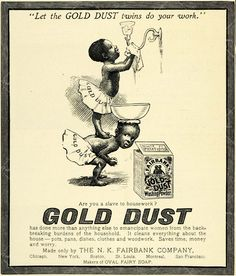gold dust twins black americana advertisement