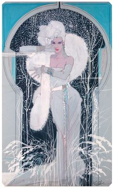 Winter by Bob Peak, 1987. Gouache on board