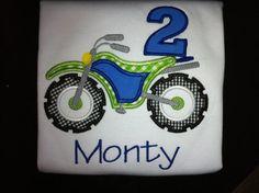 Birthday Dirt Bike Shirt by LaBarrieLittles on Etsy, $26.00