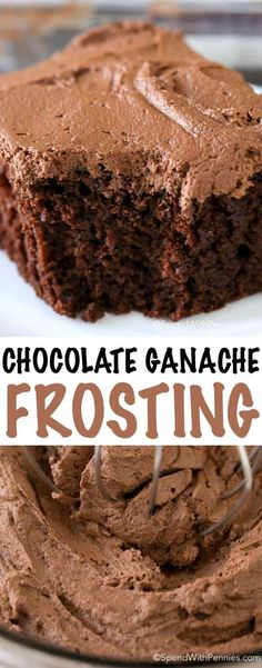 This chocolate ganache frosting is a luscious and decadent dessert topping with the perfect balance between sweet and chocolatey. This will definitely become your new favorite way to top any dessert!
